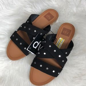 Dolce Vita slip on sandals black